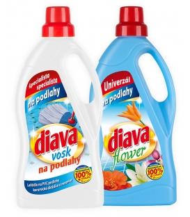 DIAVA vosk na podlahy 750 ml + DIAVA flower 750ml gratis