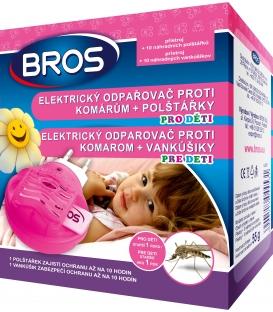 BROS- elektrický odpařovač proti komárům pro děti + polštářky