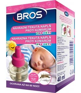 BROS- náhradní tekutá náplň proti komárům do elektrického odpařovače pro děti