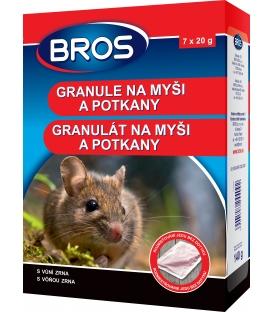 BROS- granule na myši a potkany 140 g